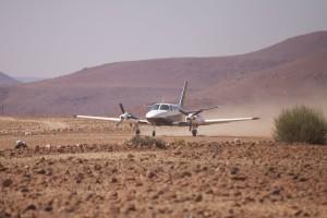 Arrival in the desert