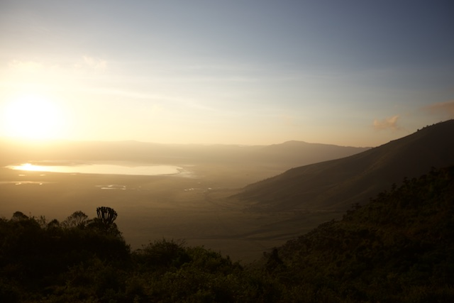 Ngorongoro Crater at dawn