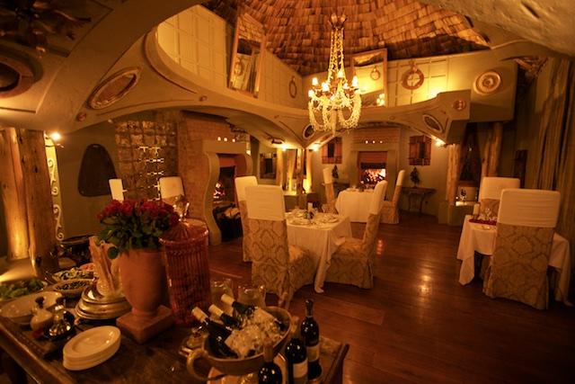 Ngorongoro Crater Lodge dining room