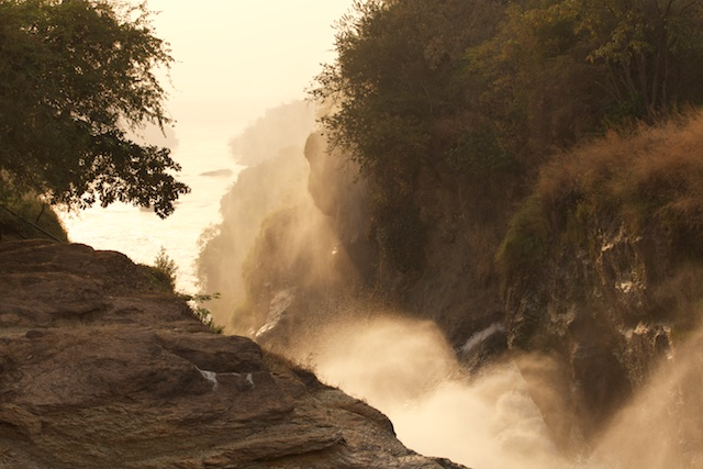 The Victora Nile rushes through the gorge