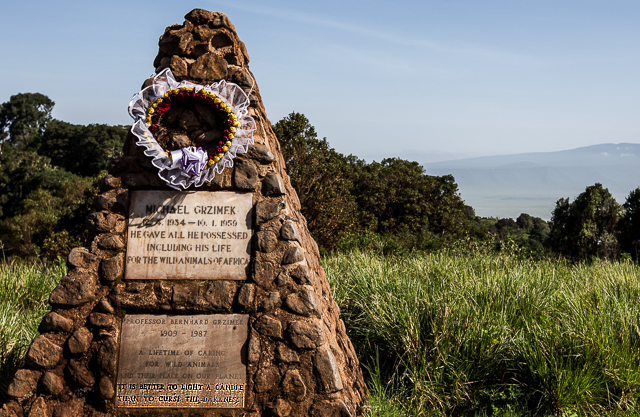 The Grizmek memorial at Ngorongoro Crater
