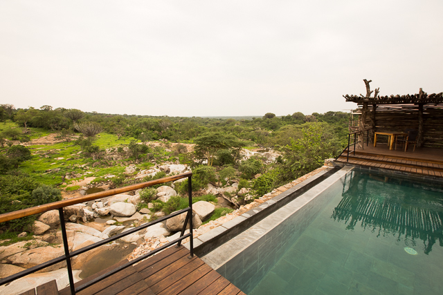 Mwiba Lodge poolside view