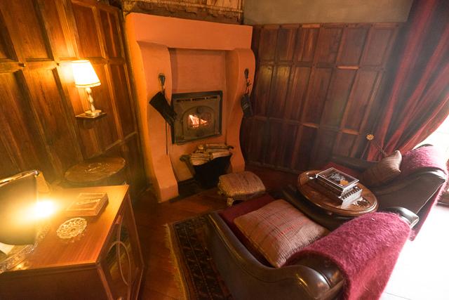 Ngorongoro Crater Lodge fireplace