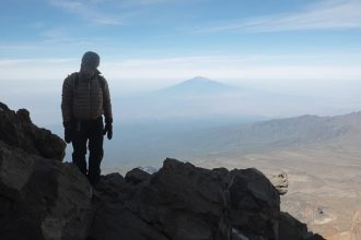 View of Mt Meru